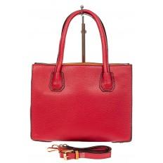На фото 3 - Женская сумка из искусственной кожи, красная