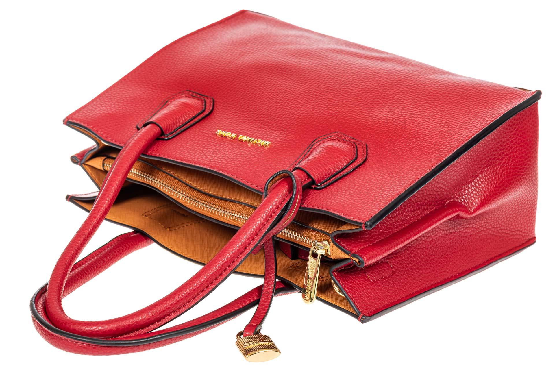 На фото 4 - Женская сумка из искусственной кожи, красная