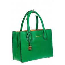 На фото 1 - Женская сумка из искусственной кожи, зеленая