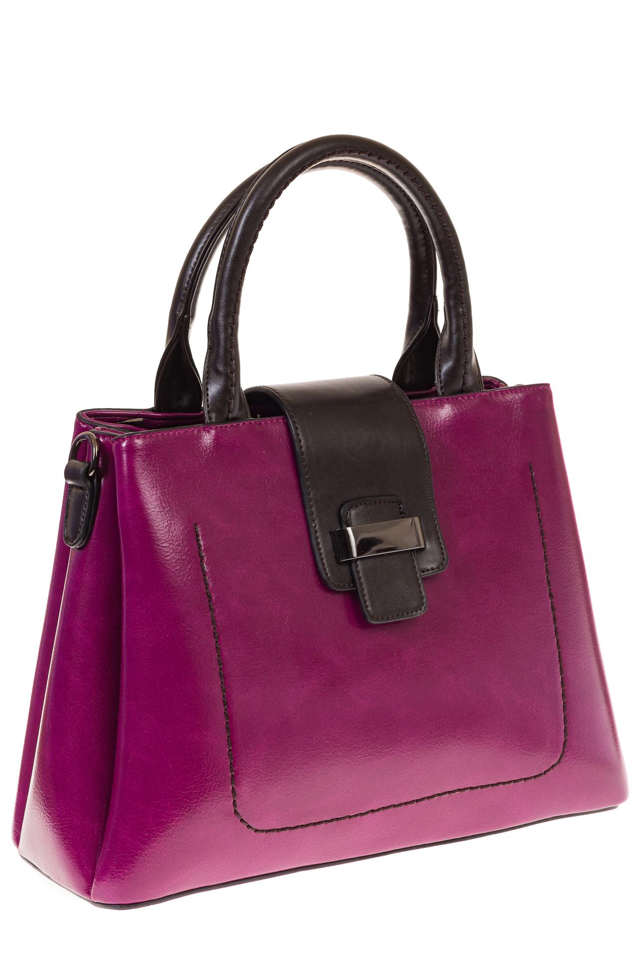 На фото 1 - Строгая дамская сумка из эко-кожи