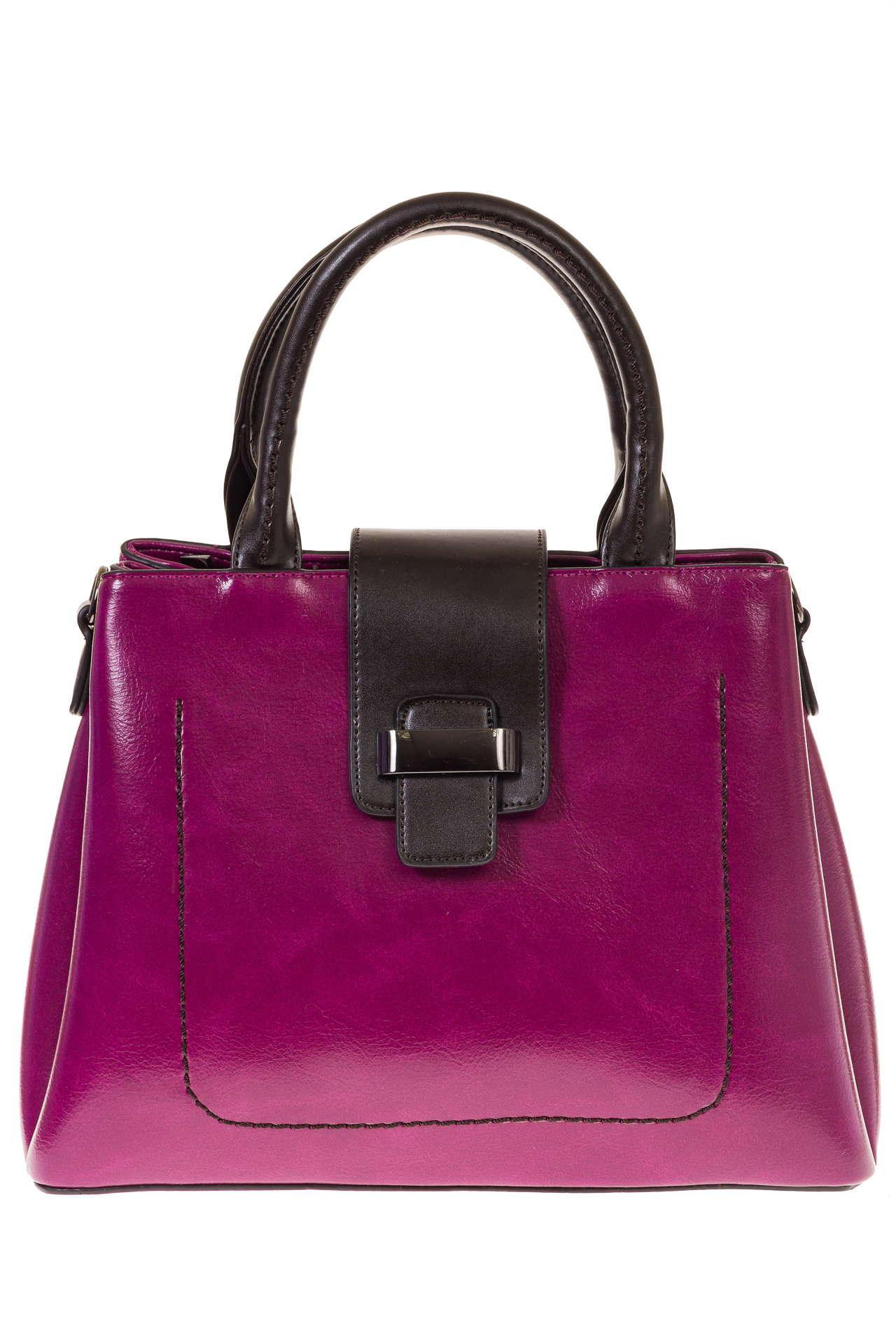 На фото 2 - Строгая дамская сумка из эко-кожи