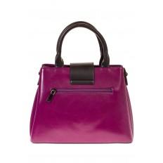 На фото 3 - Строгая дамская сумка из эко-кожи