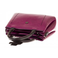 На фото 4 - Строгая дамская сумка из эко-кожи