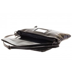 На фото 4 - Мраморный клатч черного цвета 169AK