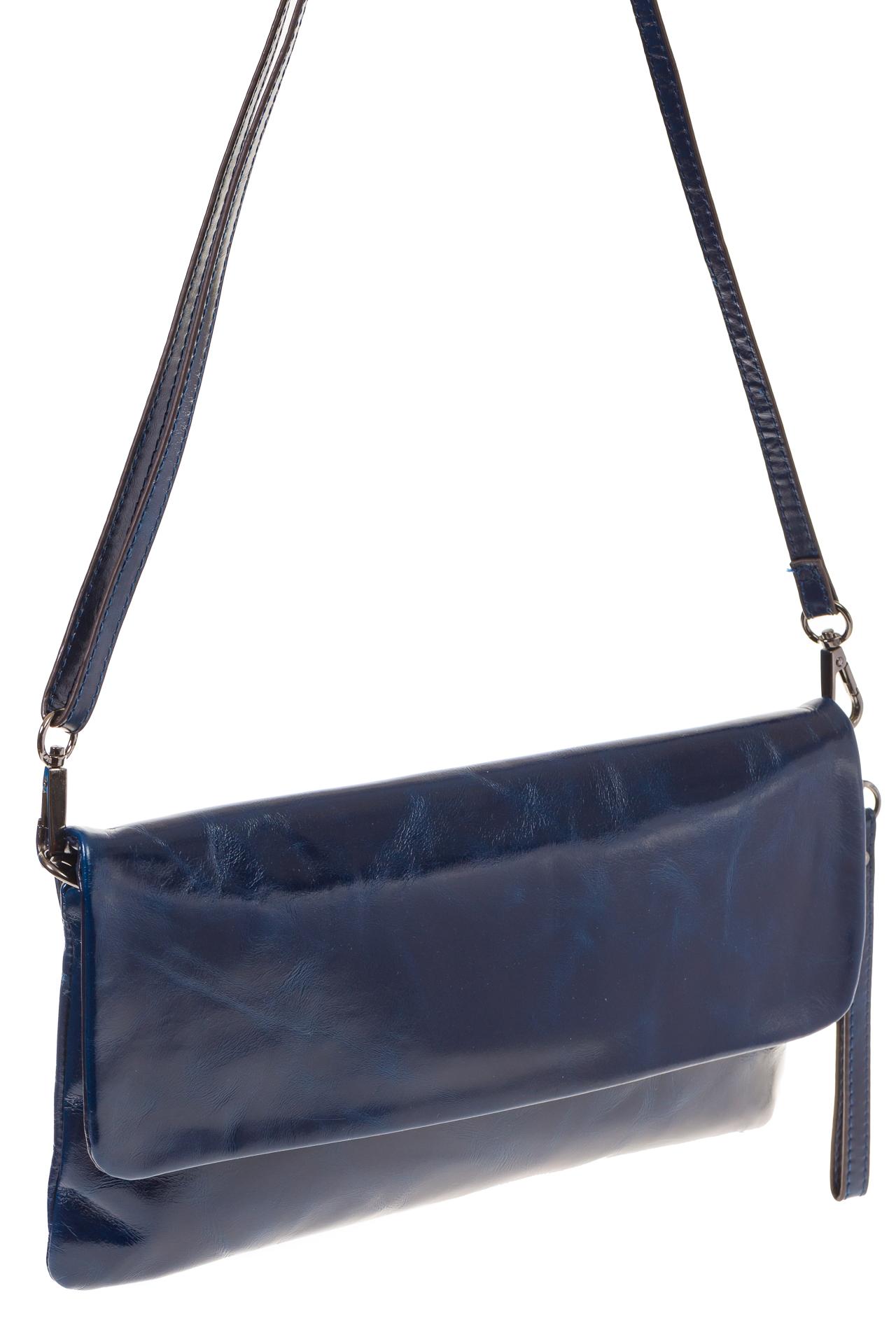 На фото 1 - Мраморный клатч синего цвета 169AK