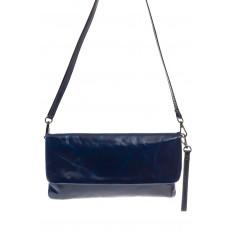 На фото 2 - Мраморный клатч синего цвета 169AK