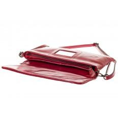На фото 4 - Мраморный клатч красного цвета 169AK