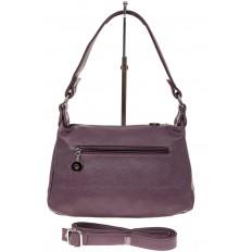 На фото 2 - Женская классическая сумка из искусственной кожи, цвет сирень