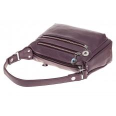 На фото 3 - Женская классическая сумка из искусственной кожи, цвет сирень