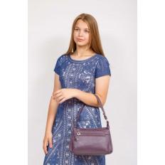 На фото 4 - Женская классическая сумка из искусственной кожи, цвет сирень