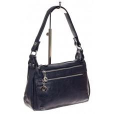 На фото 1 - Женская классическая сумка из искусственной кожи, цвет синий