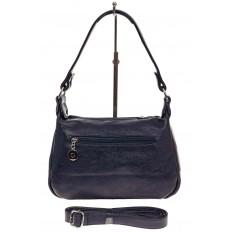 На фото 2 - Женская классическая сумка из искусственной кожи, цвет синий