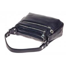 На фото 3 - Женская классическая сумка из искусственной кожи, цвет синий