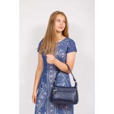 На фото 4 - Женская классическая сумка из искусственной кожи, цвет синий