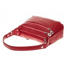 На фото 3 - Женская классическая сумка из искусственной кожи, цвет красный