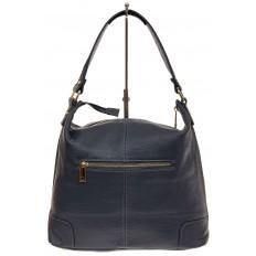 На фото 3 - Женская сумка из натуральной кожи, цвет синий