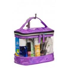 На фото 1 - Непромокаемая сумка-косметичка для бассейна, цвет фиолетовый