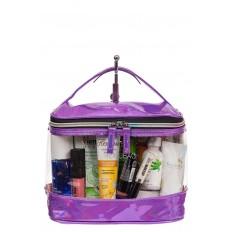 На фото 2 - Непромокаемая сумка-косметичка для бассейна, цвет фиолетовый