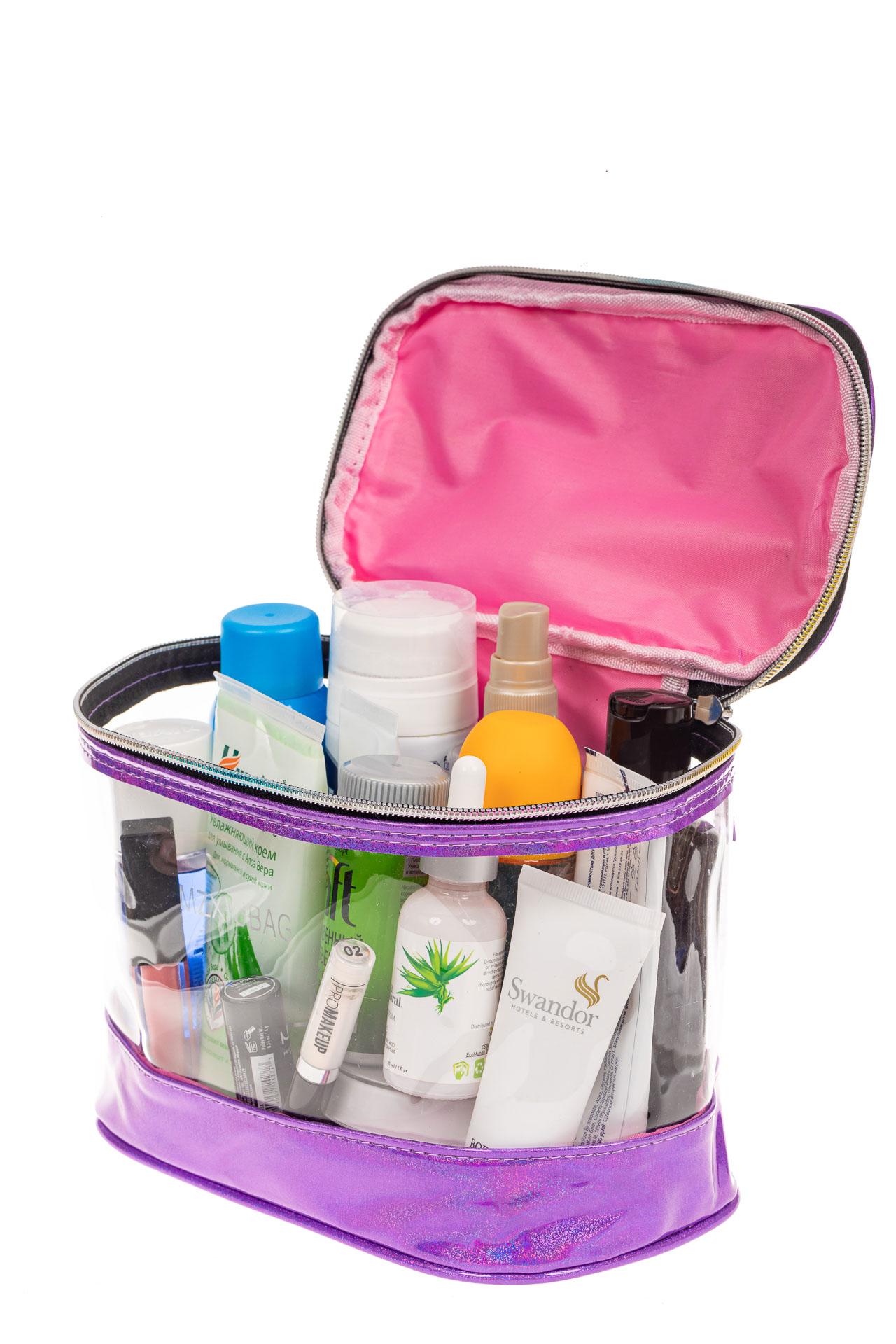 На фото 3 - Непромокаемая сумка-косметичка для бассейна, цвет фиолетовый
