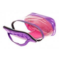 На фото 4 - Непромокаемая сумка-косметичка для бассейна, цвет фиолетовый