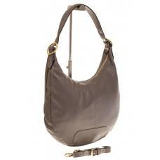 На фото 1 - Классическая женская сумка Хобо серого цвет...