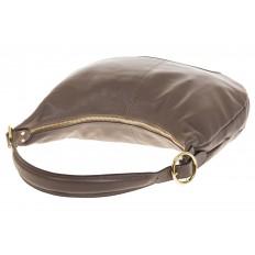 На фото 4 - Классическая женская сумка Хобо серого цвета 1723