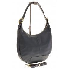 На фото 1 - Классическая женская сумка Хобо сине-серого...