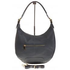 На фото 3 - Классическая женская сумка Хобо сине-серого цвета 1723