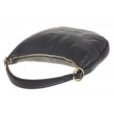 На фото 4 - Классическая женская сумка Хобо сине-серого цвета 1723