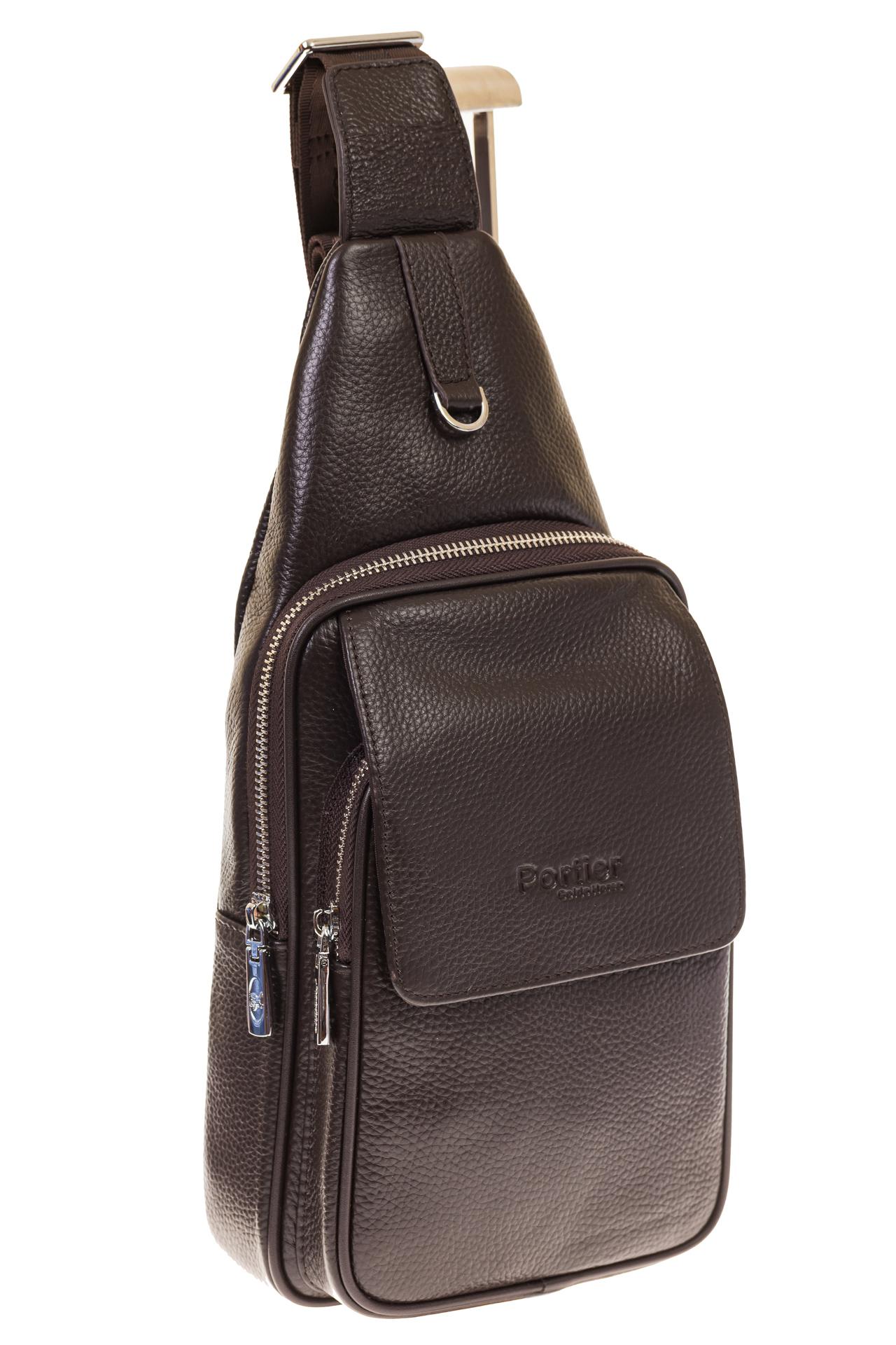 На фото 1 - Сумка sling bag из натуральной кожи для мужчин 1750MM5