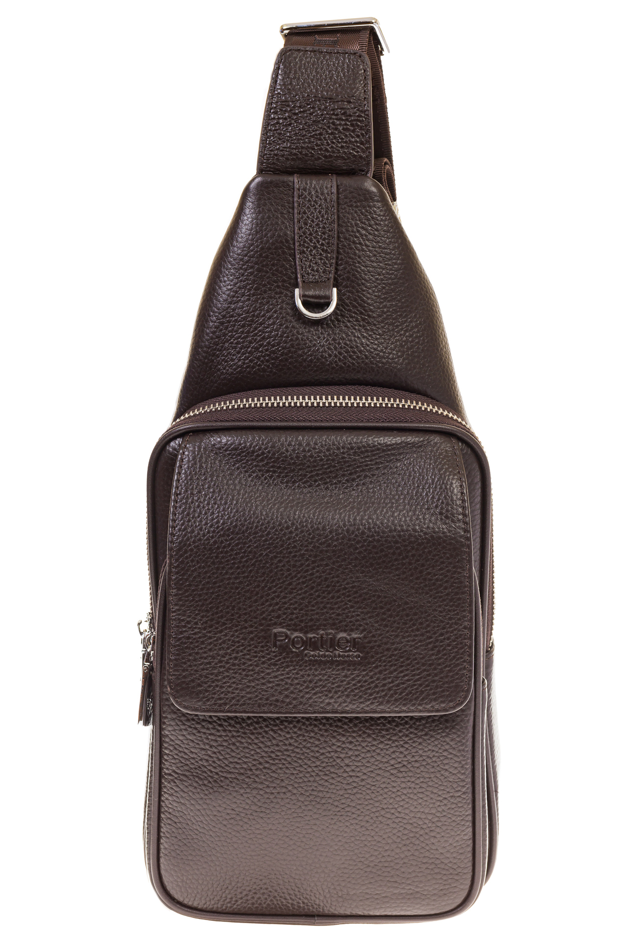 На фото 2 - Сумка sling bag из натуральной кожи для мужчин 1750MM5