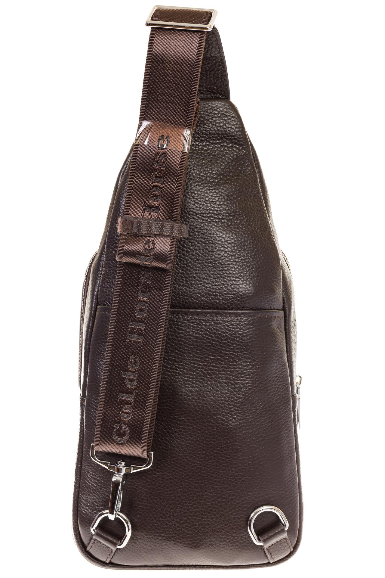 На фото 3 - Сумка sling bag из натуральной кожи для мужчин 1750MM5