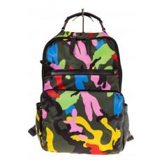 Купить оптом рюкзак из текстиля спортивного стиля, фото спереди