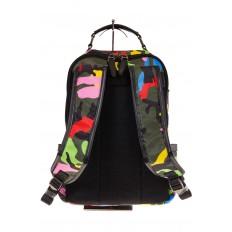 Купить оптом рюкзак из текстиля спортивного стиля, фото сзади
