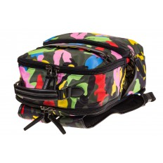 Купить оптом рюкзак из текстиля спортивного стиля, фото изнутри
