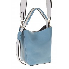 на фото Bucket bag из искусственной кожи голубого цвета 176MJ5