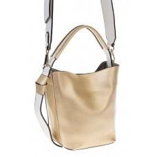 на фото Bucket bag из искусственной кожи золотого цвета 176MJ5