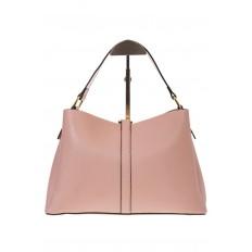 На фото 3 - Розовая сумка-трапеция из кожи 1771AK