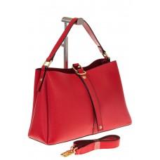 на фото Красная сумка-трапеция из кожи 1771MK5