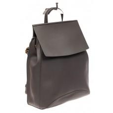 На фото 1 - Женский рюкзак-трансформер из искусственной кожи, цвет серый