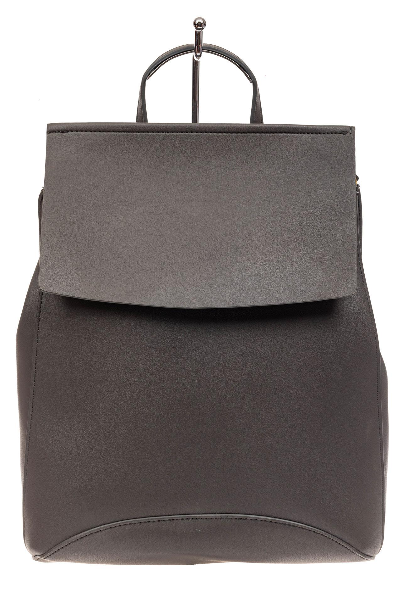 На фото 2 - Женский рюкзак-трансформер из искусственной кожи, цвет серый