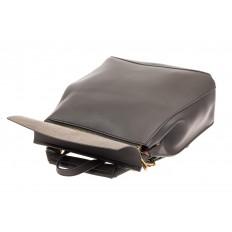 На фото 4 - Женский рюкзак-трансформер из искусственной кожи, цвет серый
