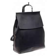 На фото 1 - Женский рюкзак-трансформер из искусственной кожи, цвет синий