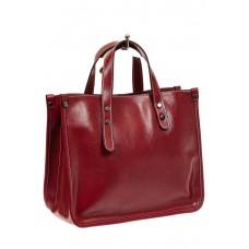 На фото 1 - Деловая сумка тоут из натуральной кожи, цве...