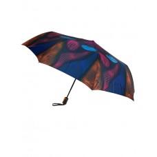 На фото 1 - Зонт-полуавтомат женский с принтом, мультицвет