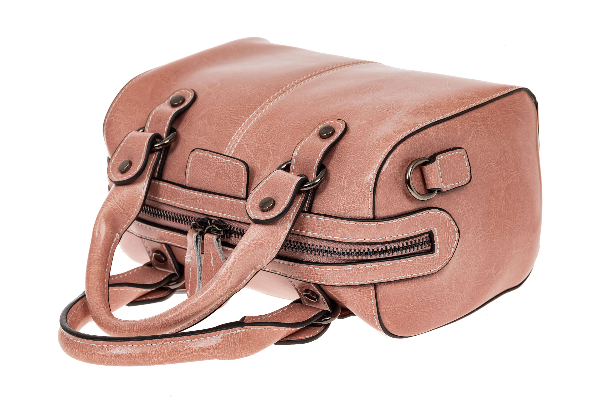 На фото 3 - Маленькая сумочка из натуральной кожи, цвет розовый