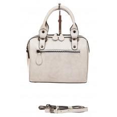 На фото 2 - Маленькая сумочка из натуральной кожи, цвет молочный