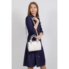 На фото 4 - Маленькая сумочка из натуральной кожи, цвет молочный