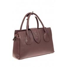 На фото 1 - Женская сумка с гортом из крокодила, цвет с...