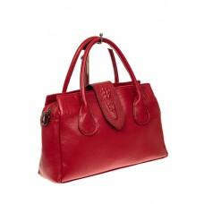 На фото 1 - Женская сумка с гортом из крокодила, цвет к...